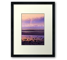 Rainbow over Bramble Bay Framed Print