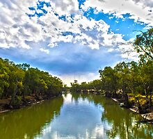 Murrumbidgee river from hay bridge by outbacksnaps