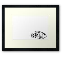 flaming wolf Framed Print