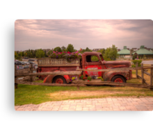 Antique pickup truck at Blue Mountain 2 Canvas Print