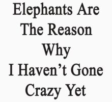 Elephants Are The Reason Why I Haven't Gone Crazy Yet by supernova23