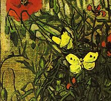 Van Gogh- Poppies and Butterflies by drewkrispies