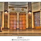 Foyer and elevator by Beverly Cash