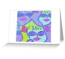 Cool Ladies in Purple Sunglasses! Greeting Card