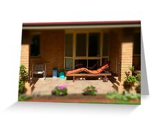 House & garden - tilt shifted Greeting Card