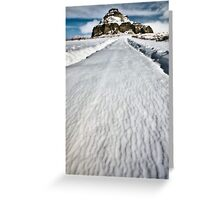 Castle Butte in the Big Muddy Badlands in Winter Greeting Card