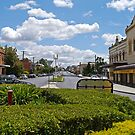 Street scene, Bathurst, New South Wales, Australia by Margaret  Hyde