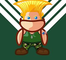 Guile of Street Fighter by gloriousmonster