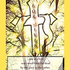 """Forgiven"" Cross of Jesus Yellow by Terri Chandler"