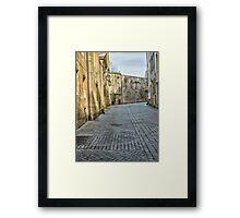Empty Street Framed Print