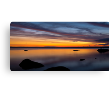 Sunset at Tin Hut Lake Canvas Print