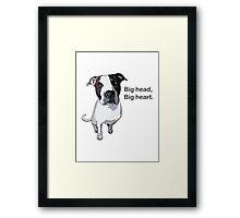 Big head, big heart  Framed Print