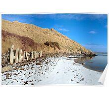 the cashen estuary ballybunion in frozen landscape Poster