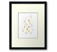 Boxes & circles- Yellow, orange, pink Framed Print