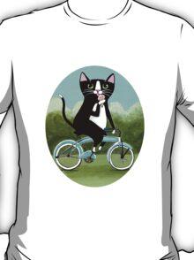 Ice Cream Bicycle Cat T-Shirt