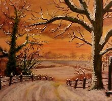 Winter Sunset by Elizabeth Coats