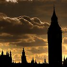 Sunset over Big Ben by CharlotteMorse