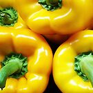 Yellow Peppers by Ludwig Wagner