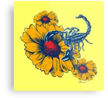Scorpion Flowers Metal Print