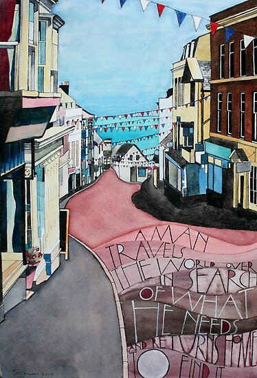 Lyme Regis - during Lifeboat Week by samcannonart