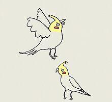 Cockatiels by Sophie Corrigan