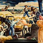 Threshing in Kansas by kgarlowpiper
