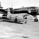 X-1-2 on Ramp with Boeing B-29 by Space Photo Shop