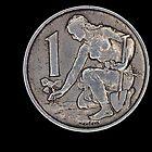 czechoslovak coin by lucifuk