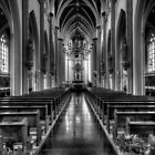 church in B&W by Nicole W.