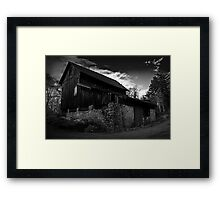 Old Abandoned Barn Framed Print