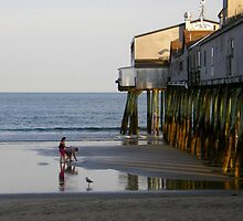 Pier at Old Orchard Beach, Maine  by Judith Hayes