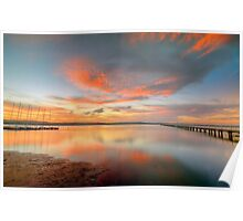 Sunset at Long Jetty. Poster