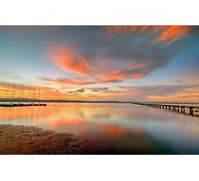 Sunset at Long Jetty. Photographic Print