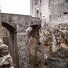 Entrance bridge to Bonaguil Castle 198402290059 by Fred Mitchell