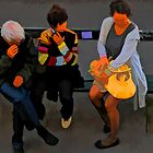 People of Paris. Bustop by Murray Swift