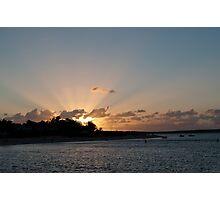 Sun burst over Shark Bay Photographic Print