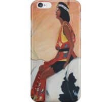 Native American Woman on Horseback by Suzanne Marie Leclair iPhone Case/Skin