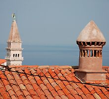 Chimneys in Piran, Slovenia by jojobob