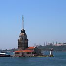 The Maiden&#x27;s Tower in Istanbul by Jens Helmstedt