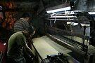 Weavers at Buyuk Valide Han by Jens Helmstedt