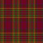 01209 Ruby of Derby Fashion Tartan Fabric Print Iphone Case by Detnecs2013