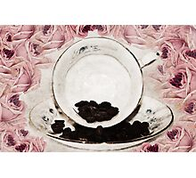 Roses and Coffee Photographic Print