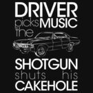 Supernatural - Driver picks the music... (dark shirts) by glassCurtain