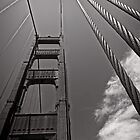 Suspended Transportation - Golden Gate Bridge - San Francisco - USA by Norman Repacholi