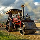Burrell 5nhp Steam Road Roller by Andrew Harker