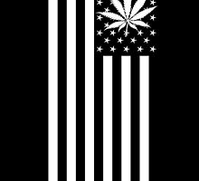 United States of Marijuana - Black & White by hilounge