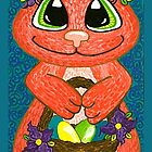 Miss Easter Bunny is here! by Lisa Frances Judd ~ QuirkyHappyArt