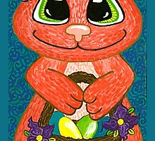 Miss Easter Bunny is here! by Lisa Frances Judd~QuirkyHappyArt