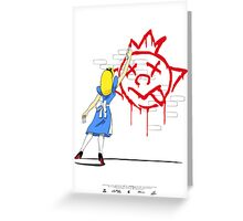 Alice Graffiti Greeting Card