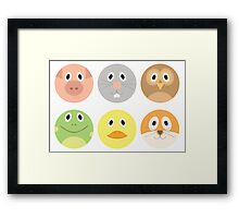 Animal Faces Framed Print